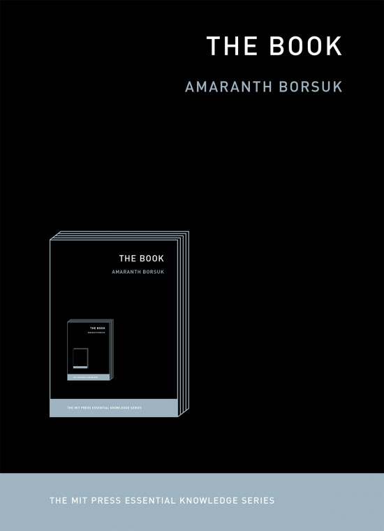 """The black cover of """"the book"""", written by Amaranth Borsuk"""