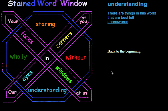 Stained word window elmcip ccuart Image collections