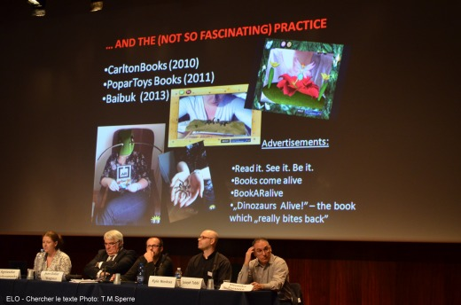 Agnieszka Przybyszewska presenting Literacy between book, page and screen at ELO Chercher le texte 2013