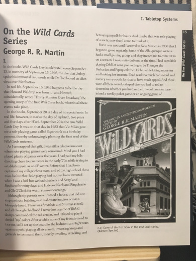 On the Wild Cards Series