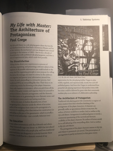 My Life with Master: The Architecture of Protagonism