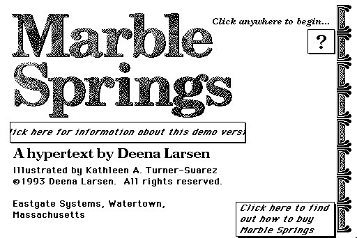 Opening screen of Marble Spring 1.0