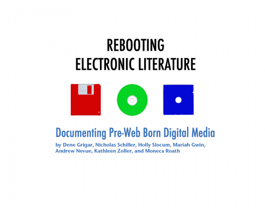 Cover of Rebooting Electronic Literature Volume 3