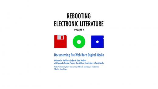 splash page for Rebooting Electronic Literature Volume 4