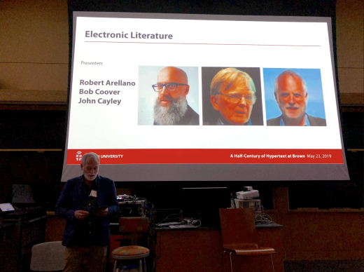 Electronic Literature Presentation -- John Cayley -- Photo by Greg Lloyd