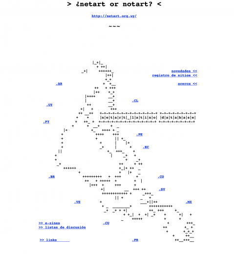 netart latino database front page