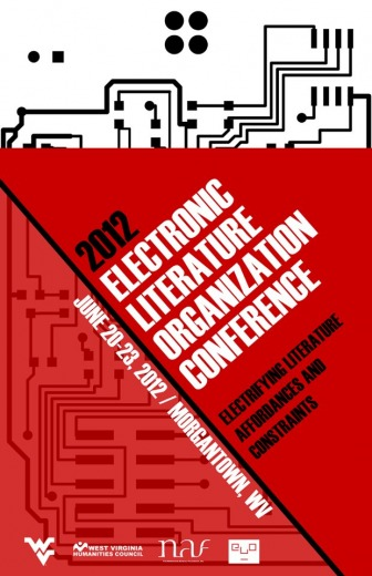 Poster for Electronic Literature Organization 2012 Conference