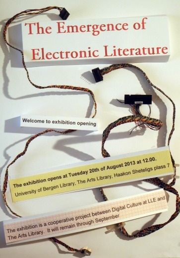The Emergence of Electronic Literature exhibition poster