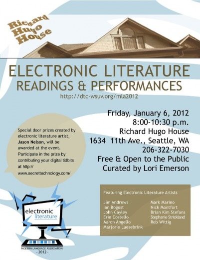 Poster: Electronic Literature Reading & Performances at the 2012 MLA