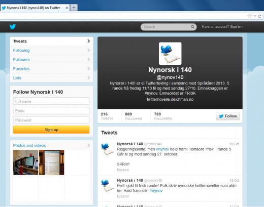 Screenshot from Nynov140 at Twitter