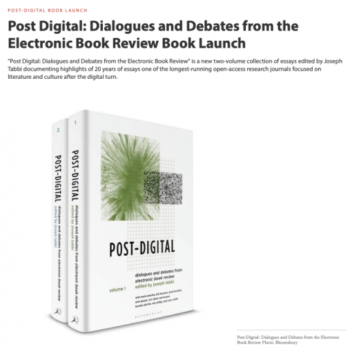 Post-Digital Book Launch announcement