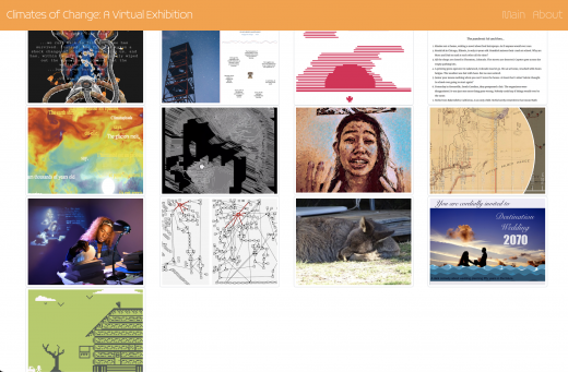 Climates of Change Gallery front page screenshot