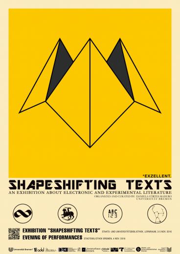 Shapeshifting Texts (poster). Design: João Rui