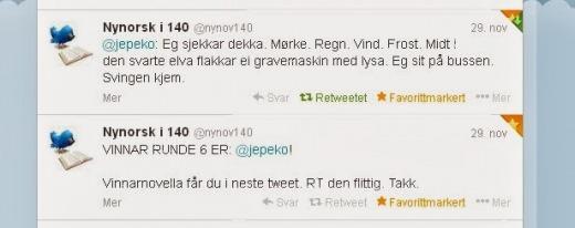 Winner Nynorsk i 140 round six.
