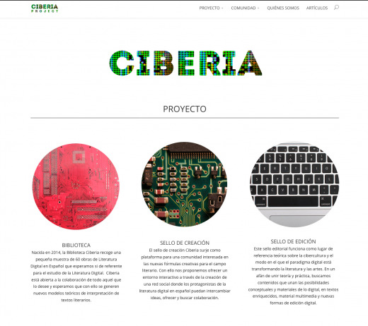 This is a screenshot of the Ciberia Project