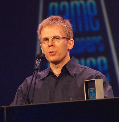John Carmack smiling in the picture