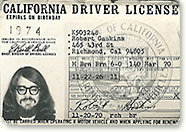 Robert Gaskins' Driver License in 1970 (Source: Author's Homepage)