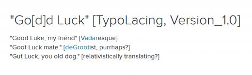 """Go[d]d Luck"" [TypoLacing, Version_1.0]"