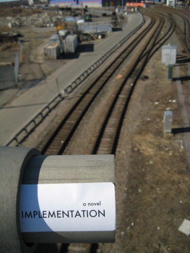 Implementation title sticker at a trainyard