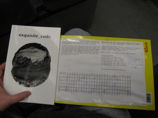 Exquisite code book with Bergen exquisite code procedures