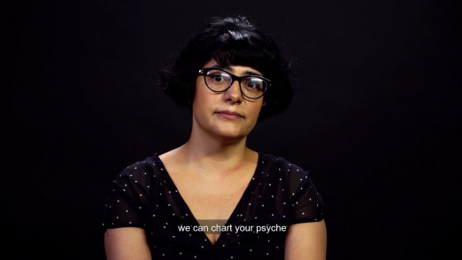 """A screenshot of the poem with the subtitle """"we can chart your psyche"""""""