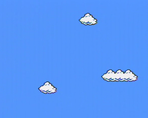 Super Mario Clouds screenshot by Cory Arcangel