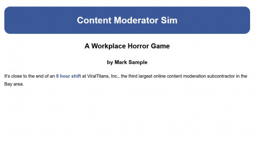 Content Moderator Sim Screenshot