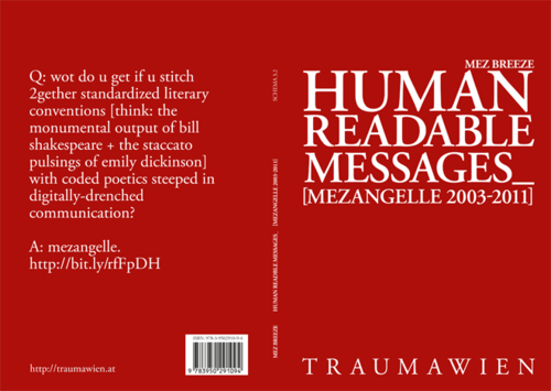 Cover of Human Readable Messages by Mez Breeze