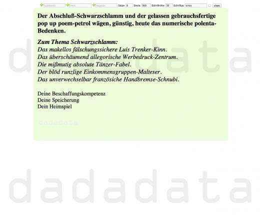 Cover page of Dadadata.de