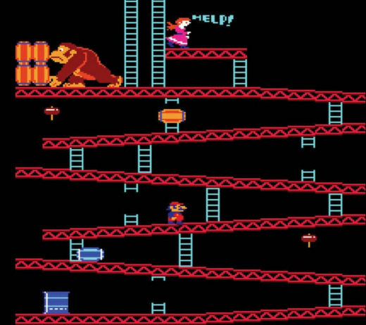 picture of the game donkey kong