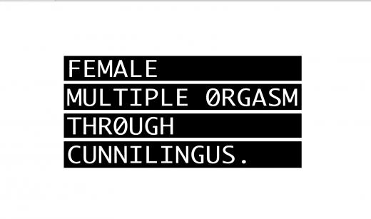 FEMALE MULTIPLE ØRGASM THRØUGH CUNNILINGUS.