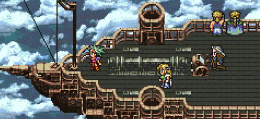 Picture of a game scene in Final Fantasy VI