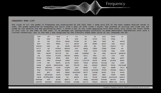 Frequency demonstrator screen shot