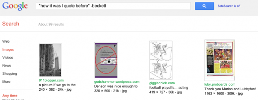 First LCP from 'How It Is' searched on Google Images