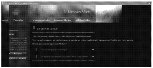 Livre des Morts screenshot (via Serge Bouchardon)