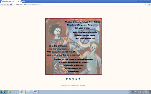 "Screenshot of ""Lord's Prayer, The"""