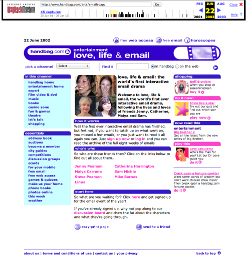 Screenshot of front page as archived by the Internet Archive