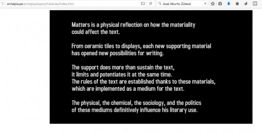MATTERS, Electromagnetic Poems