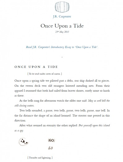 Once Upon a Tide || J. R. Carpenter