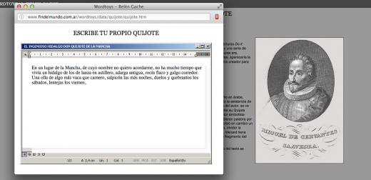 Escribe tu propio Quijote