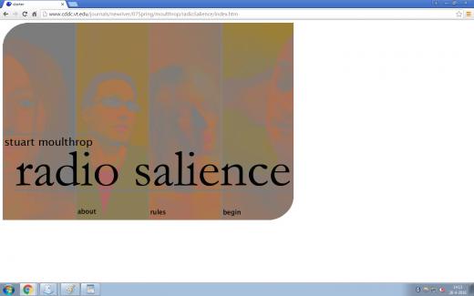 screenshot starting page