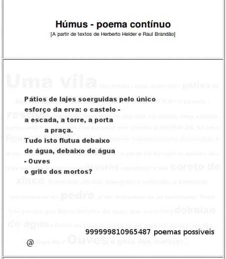 Húmus Poema Contínuo [Rui Torres]