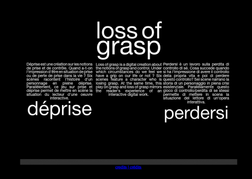 Loss of Grasp title screen