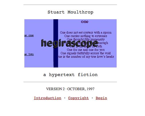 Hegirascope title page