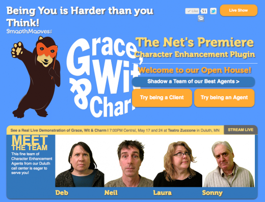 Grace Wit and Charm front page