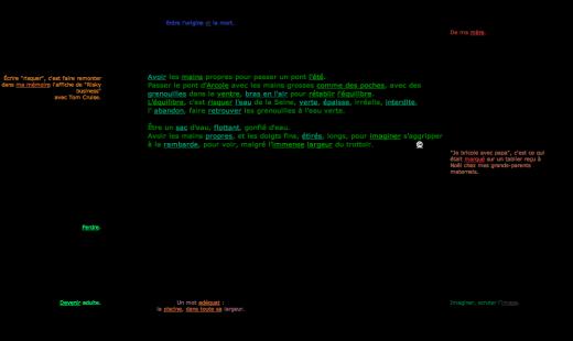 Screenshot of Explication de text