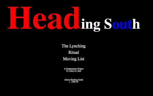 screenshot from Heading South webtext