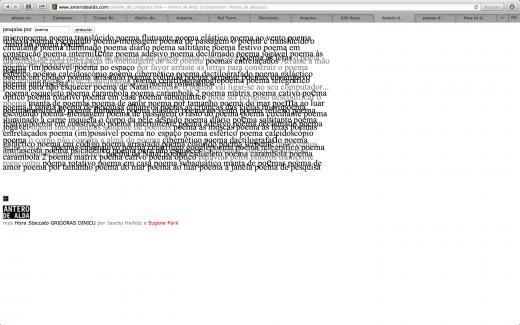 poema de pesquisa (screen shot)