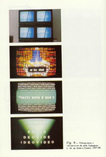 Signagens in Poética dos Meios e Arte High Tech (Melo e Castro 1988: 96)
