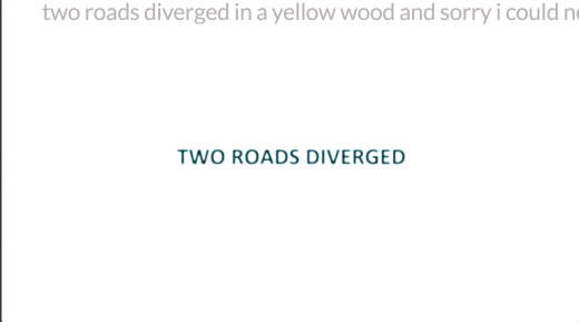 Two Roads Diverged by Alan Bigelow (screen shot)